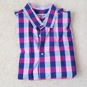 Express mens dress shirt (purple)